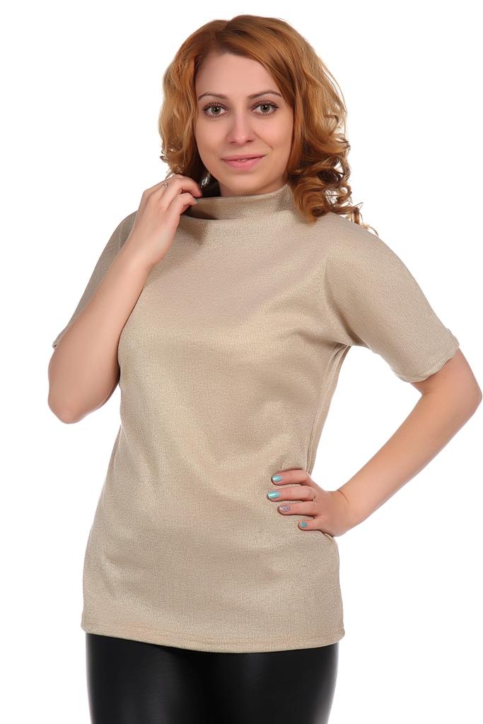 Жен. блуза арт. 16-0348 Золото р. 56Блузы<br>Факт. ОГ: 102 см <br>Факт. ОТ: 94 см <br>Факт. ОБ: 110 см <br>Длина по спинке: 68 см<br><br>Тип: Жен. блуза<br>Размер: 56<br>Материал: Кашкорсе