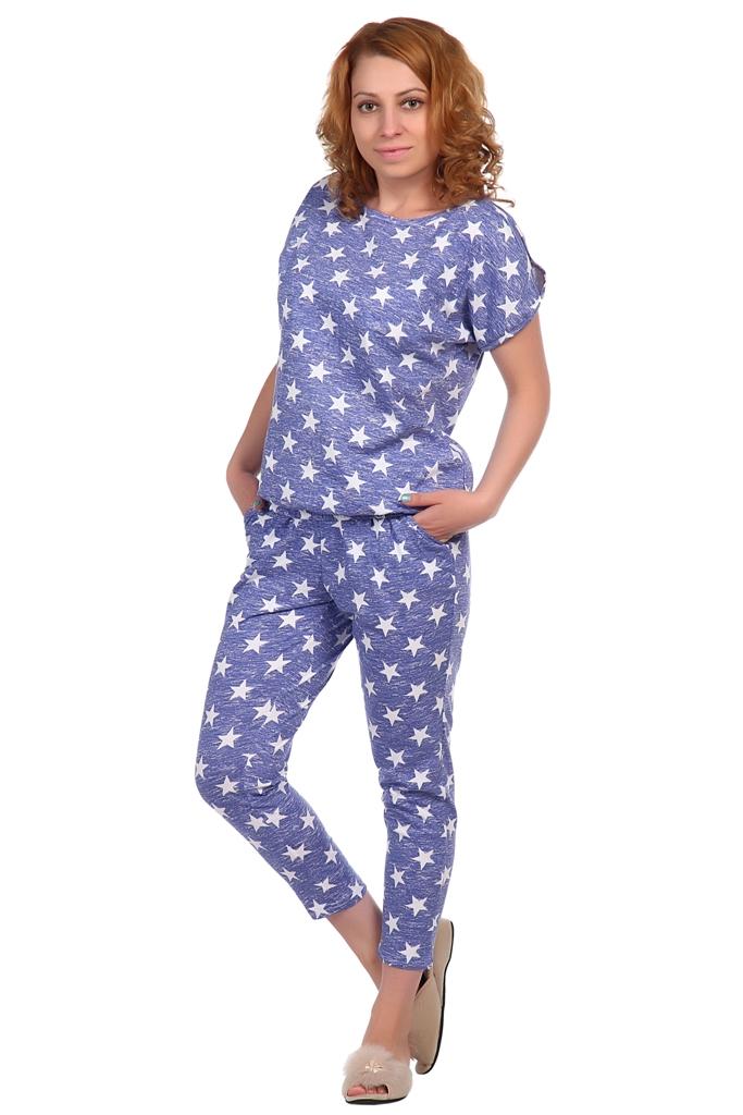 Жен. костюм арт. 16-0336 Синий р. 44 футболки