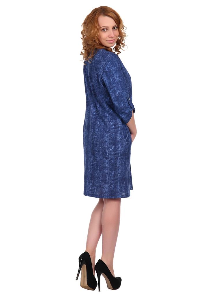 Жен. платье арт. 16-0345 темно-синий р.