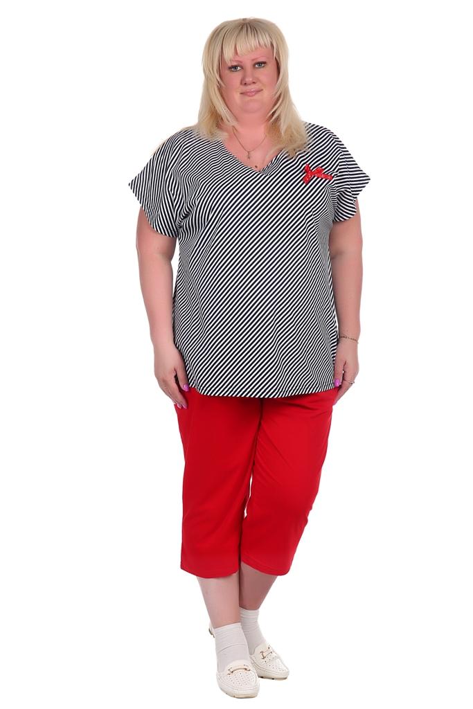 Жен. костюм арт. 16-0370 Красный р. 62Костюмы<br>Факт. обхваты: Будут опубликованы в ближайшее время<br><br>Тип: Жен. костюм<br>Размер: 62<br>Материал: Кулирка