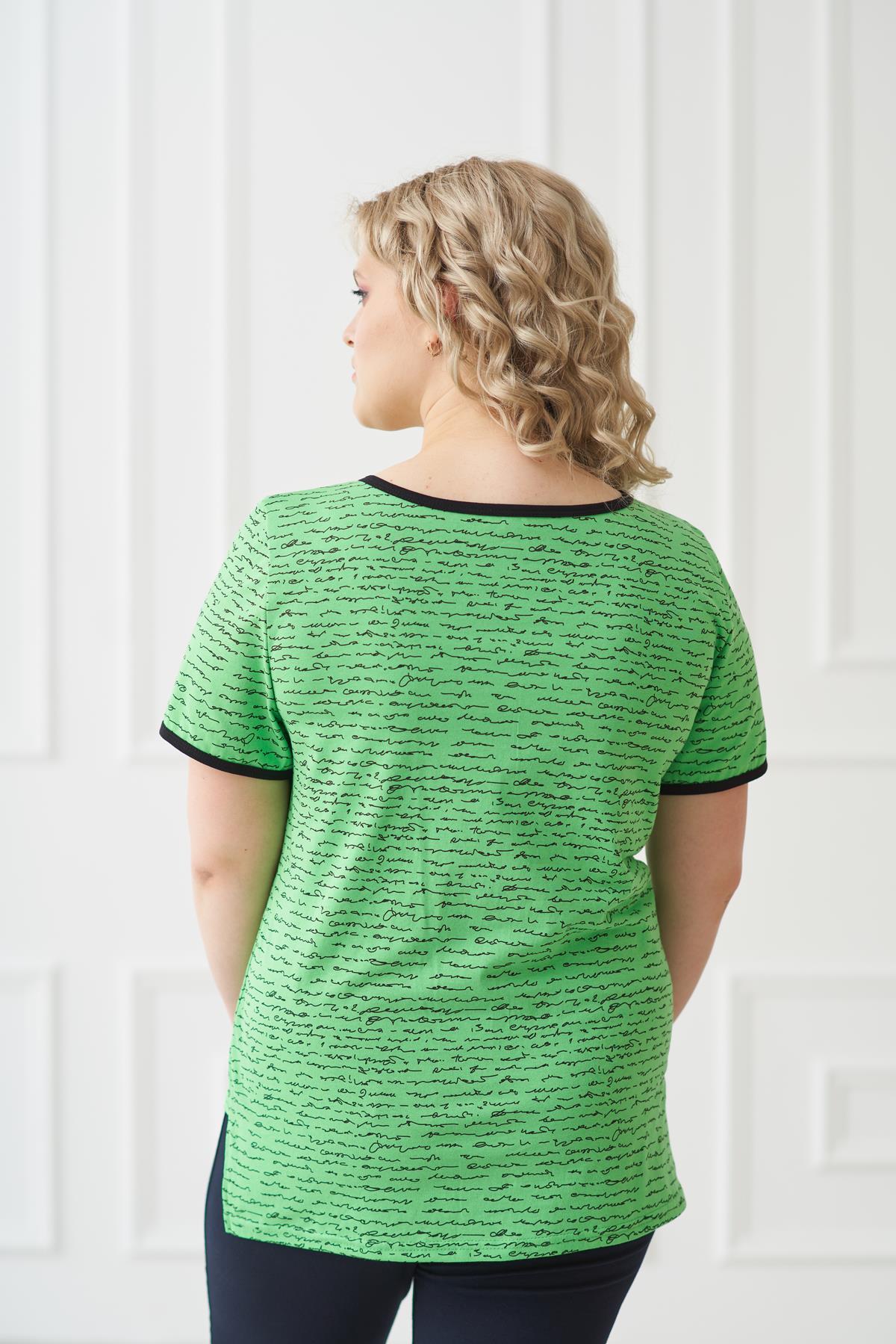 Жен. футболка арт. 19-0169 зеленый р. 56