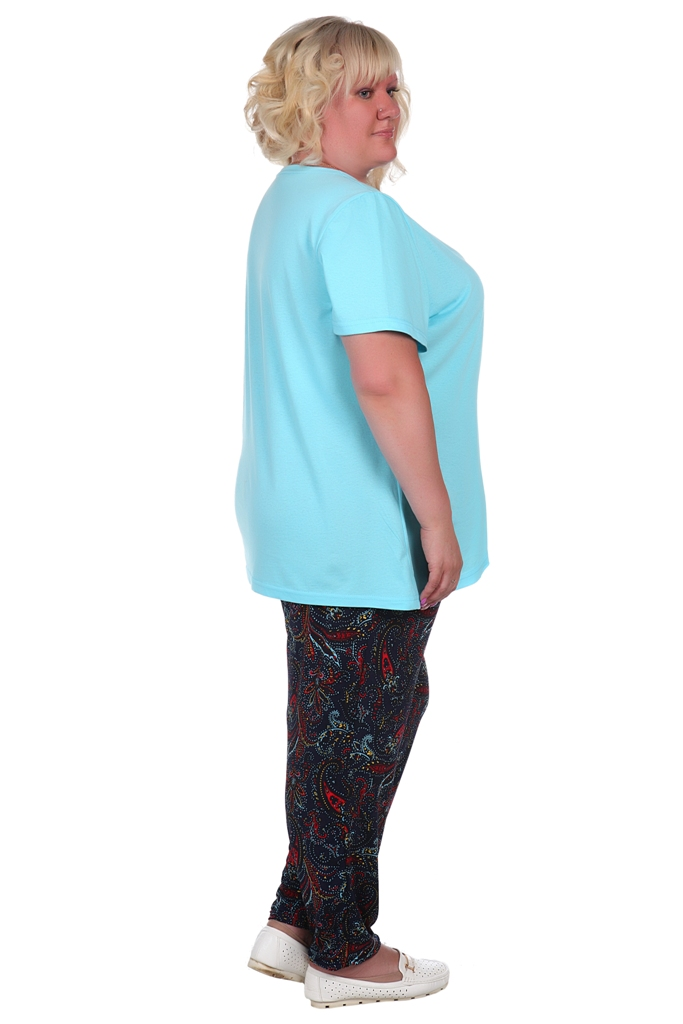 Жен. брюки арт. 16-0374 темно-синий р.