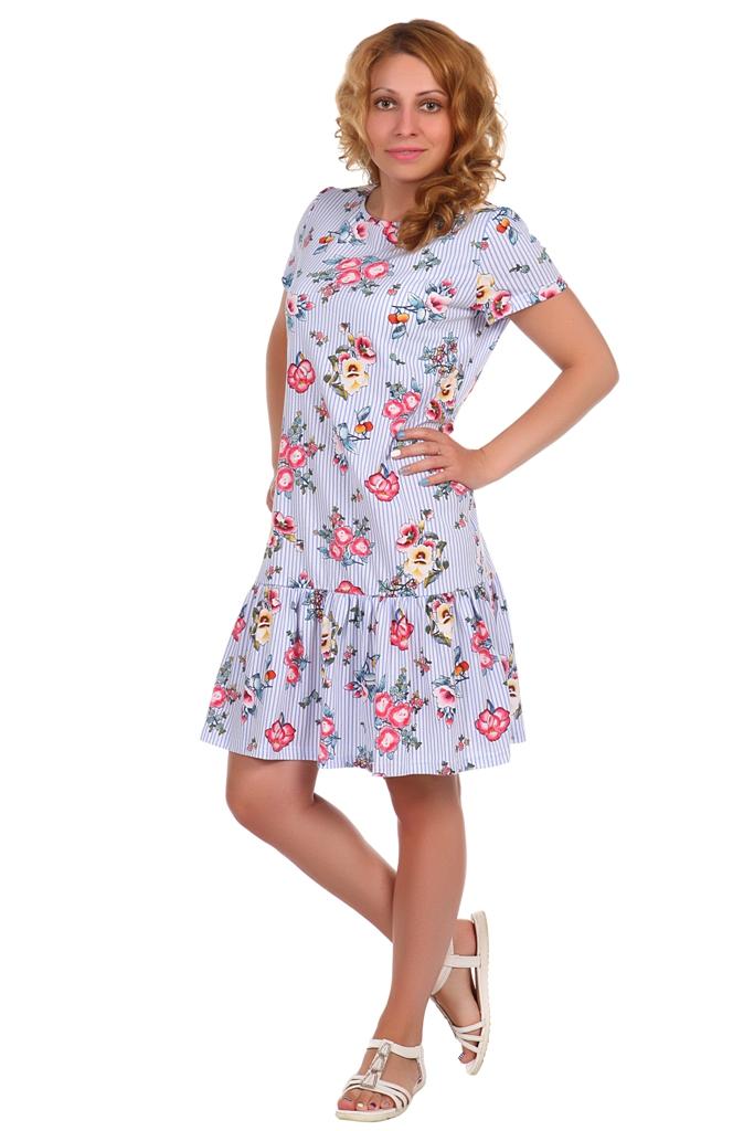 Жен. платье арт. 16-0389 Голубой р. 48 жен платье арт 16 0255 василек р 48