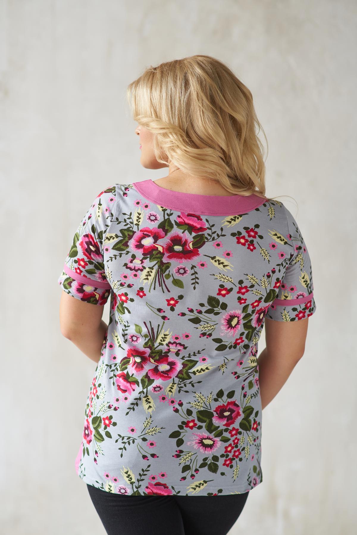 Жен. блуза арт. 19-0146 брусничный р. 54