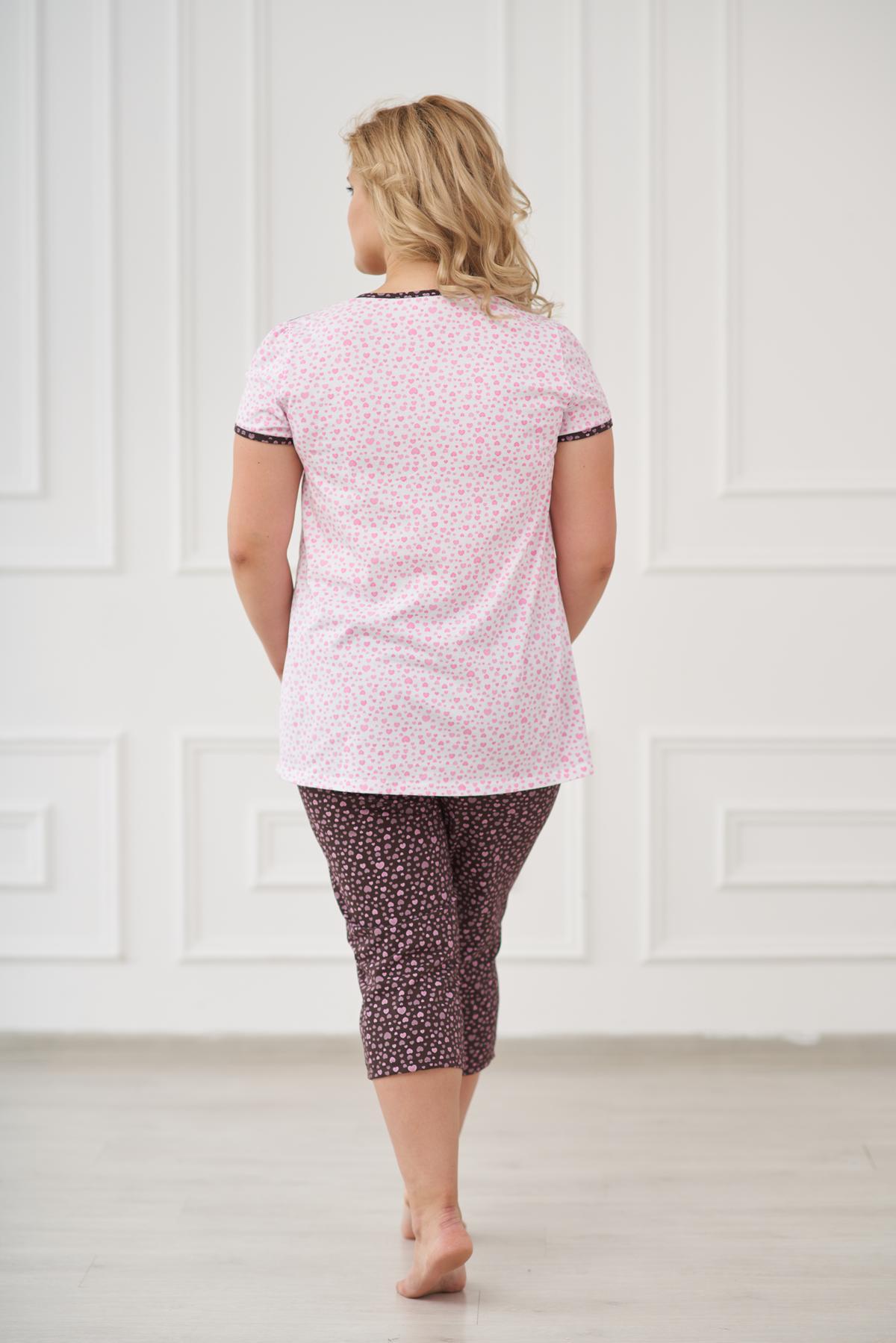 Жен. пижама арт. 19-0175 шоколадный р. 52