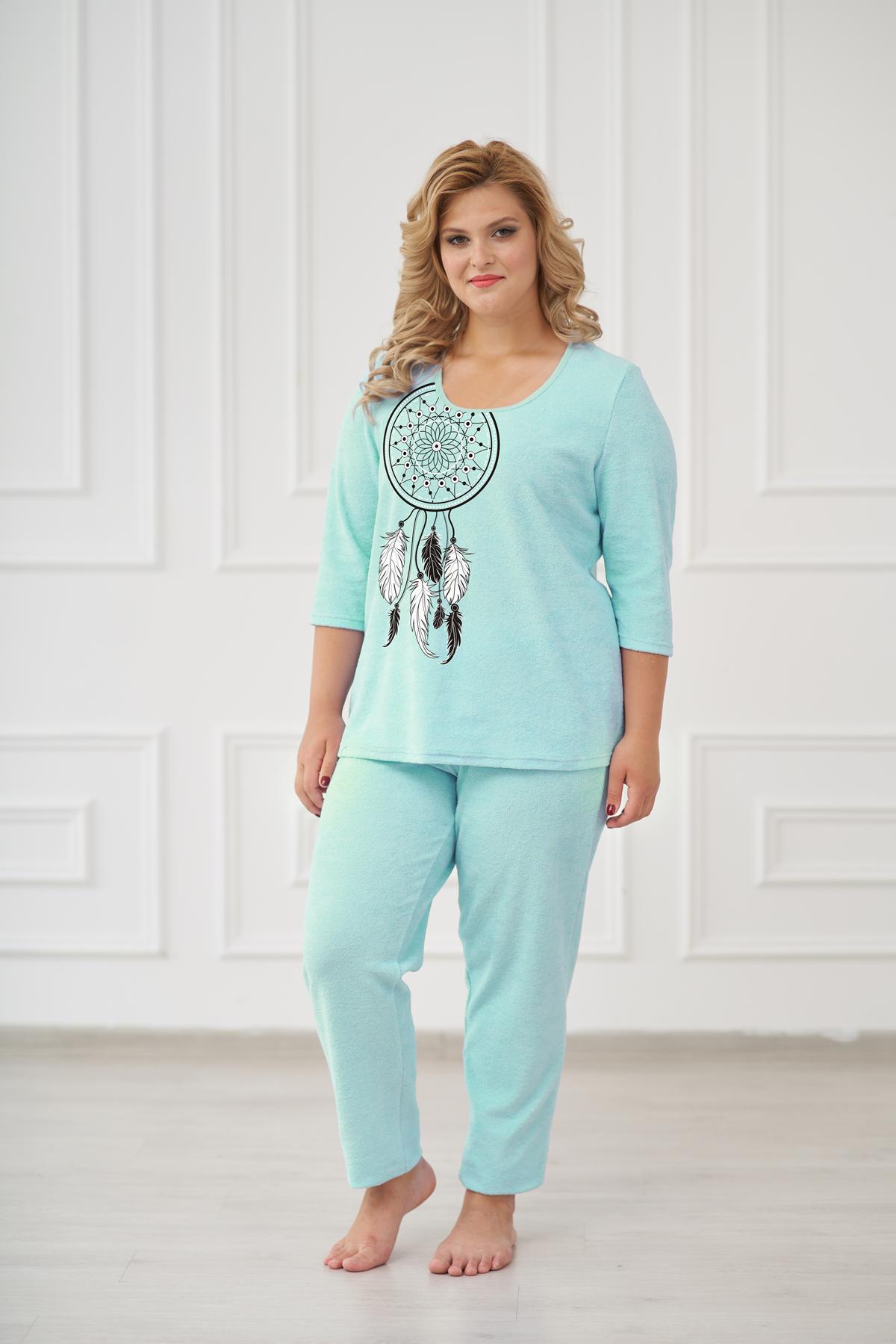Жен. пижама арт. 19-0176 Ментол р. 48