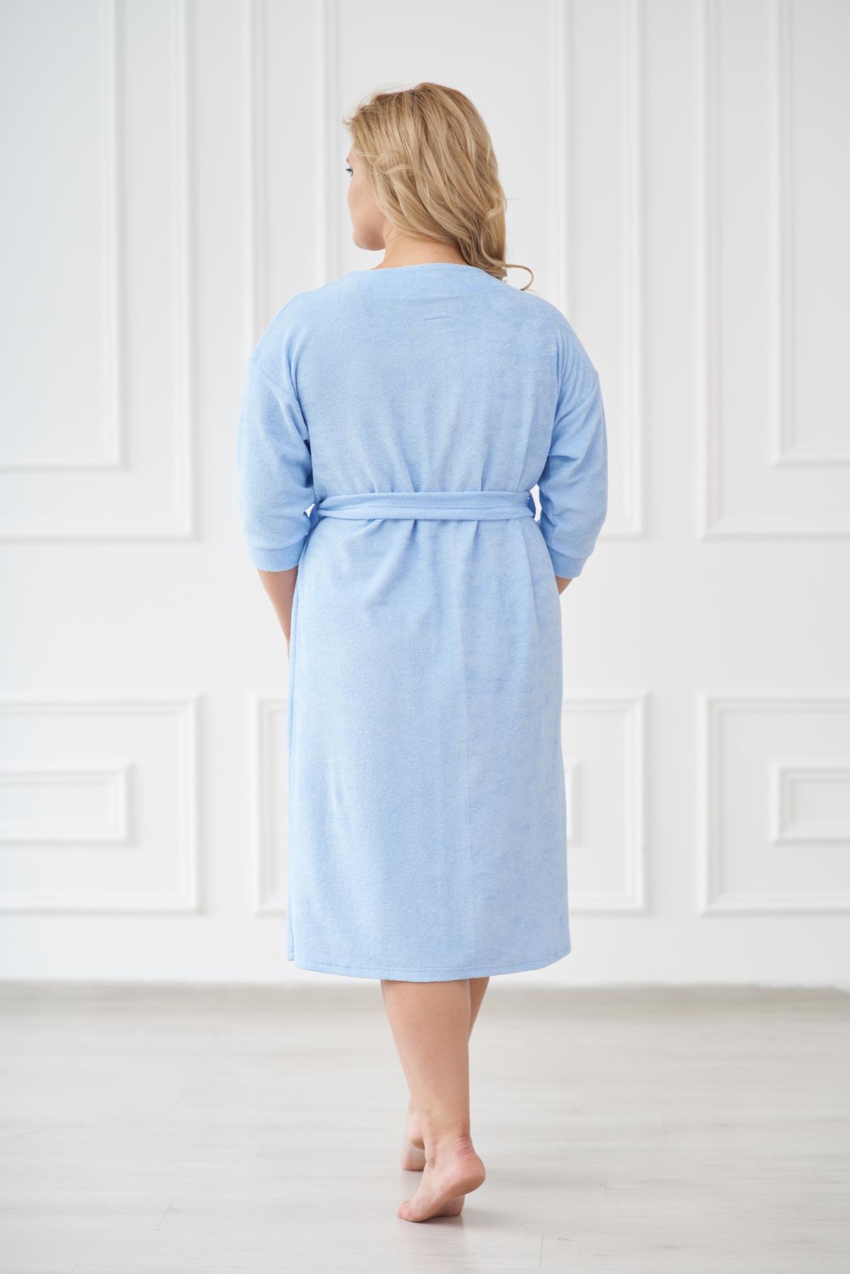 Жен. халат арт. 19-0180 голубой р. 50
