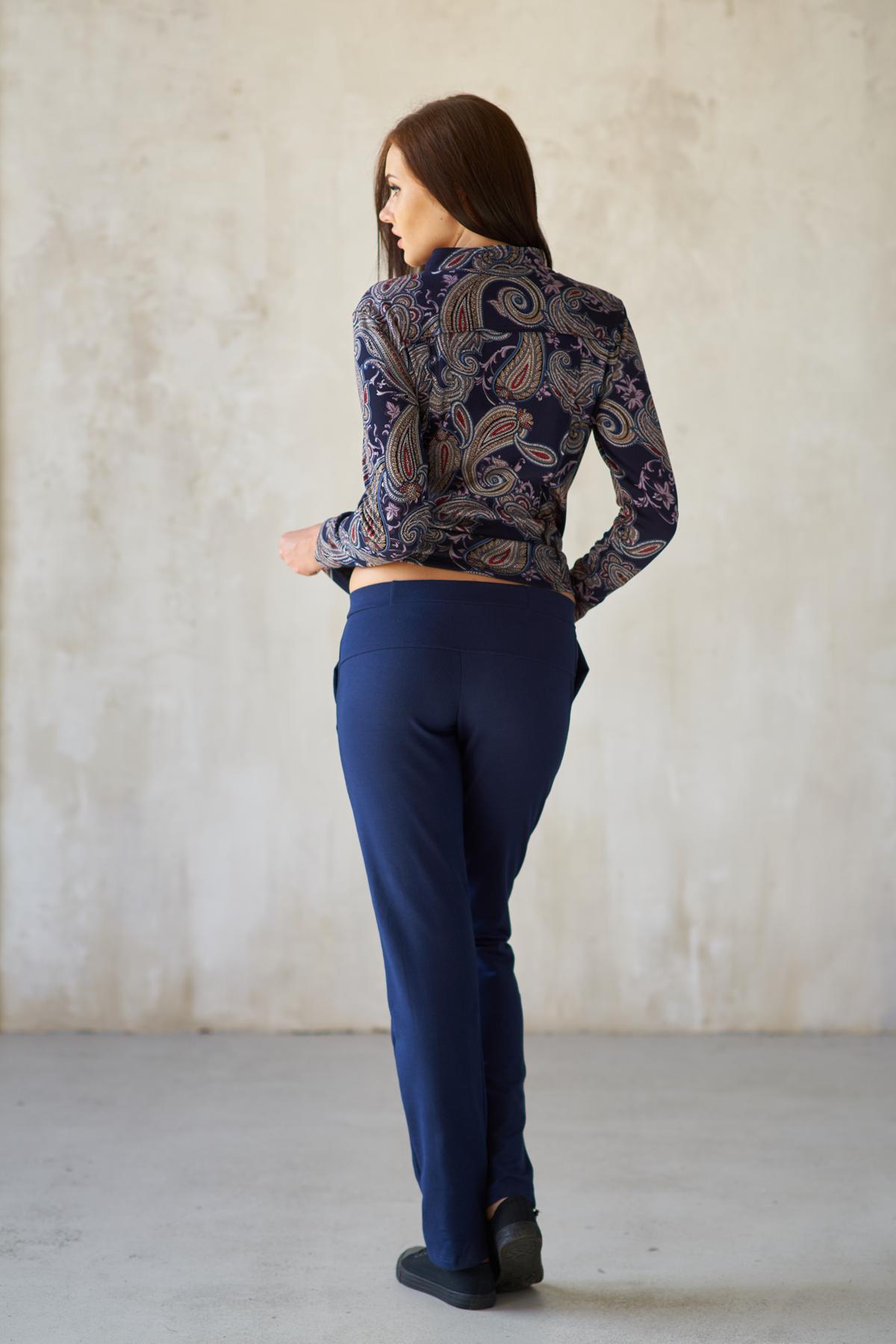 Жен. брюки арт. 19-0183 синий р.