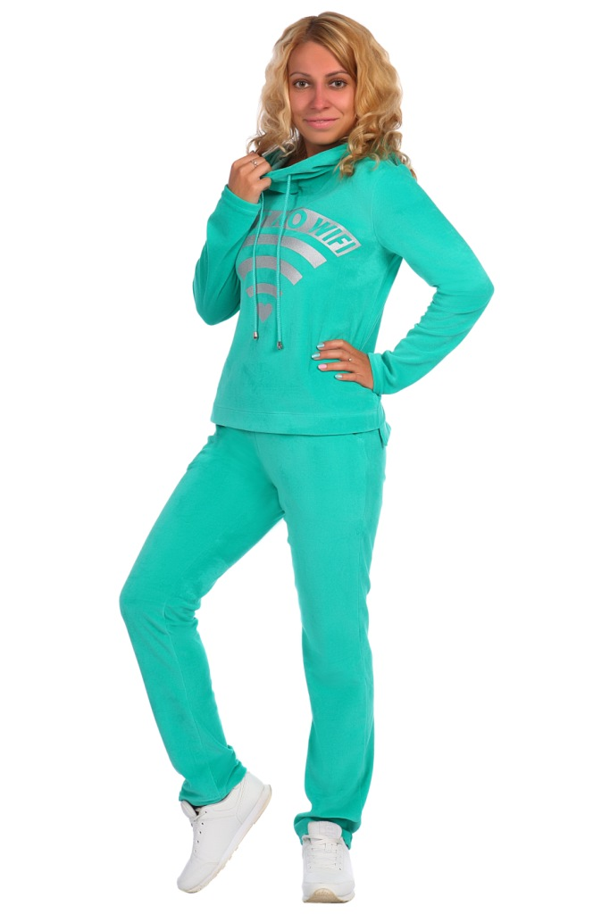 Жен. костюм арт. 16-0392 зеленый р.