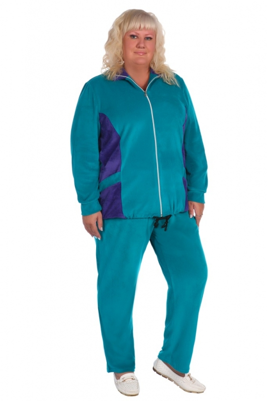Жен. костюм арт. 16-0393 зеленый р. 66
