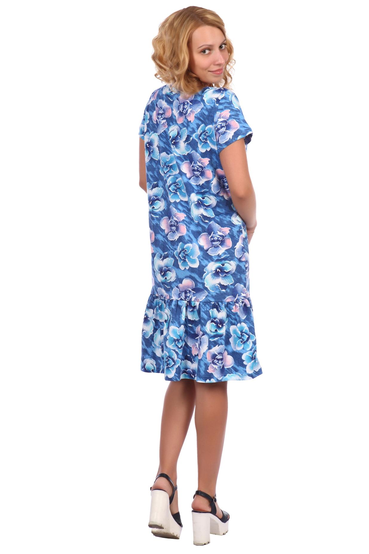 Жен. платье арт. 16-0396 синий р. 54