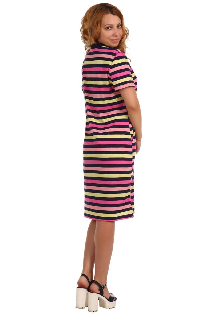 Жен. платье арт. 16-0397 розовый р. 54
