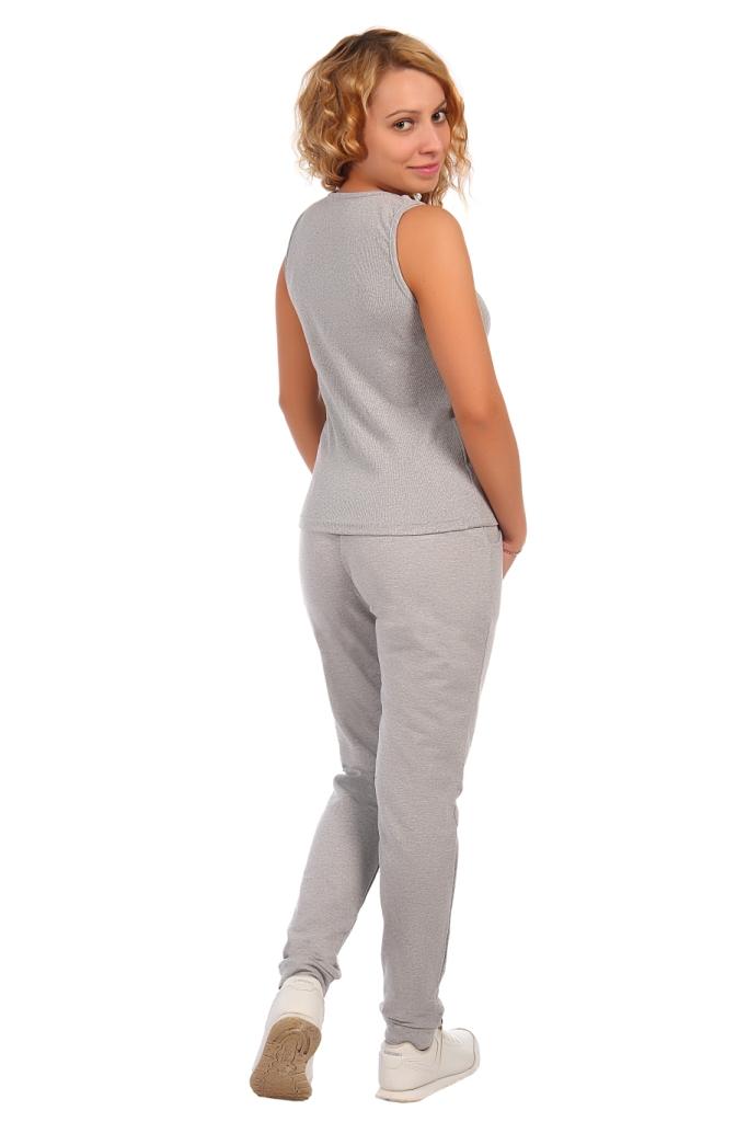 Жен. брюки арт. 16-0410 серый р. 48