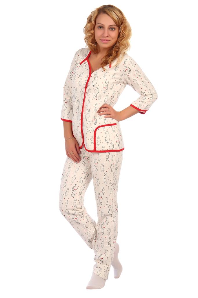 Жен. пижама арт. 16-0405 Красный р. 54