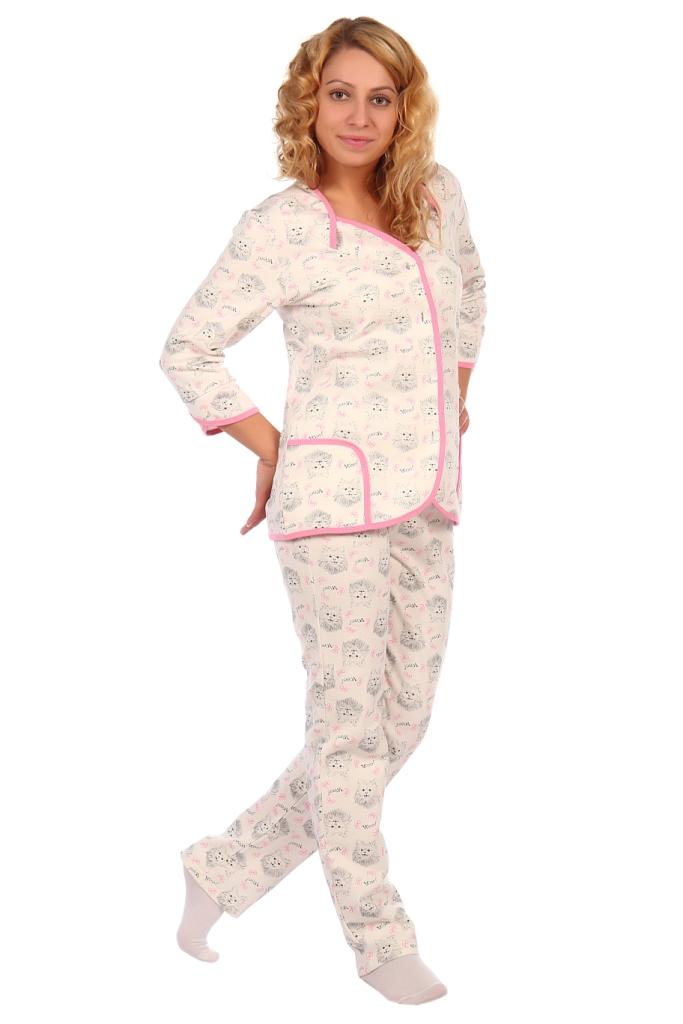 Жен. пижама арт. 16-0405 розовый р.
