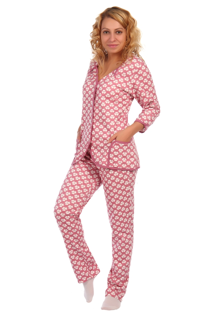 Жен. пижама арт. 16-0412 Брусника р. 52