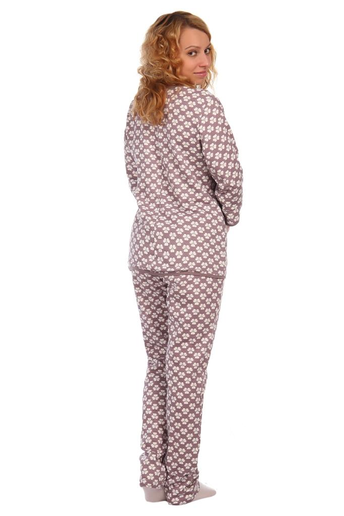 Жен. пижама арт. 16-0412 какао р.