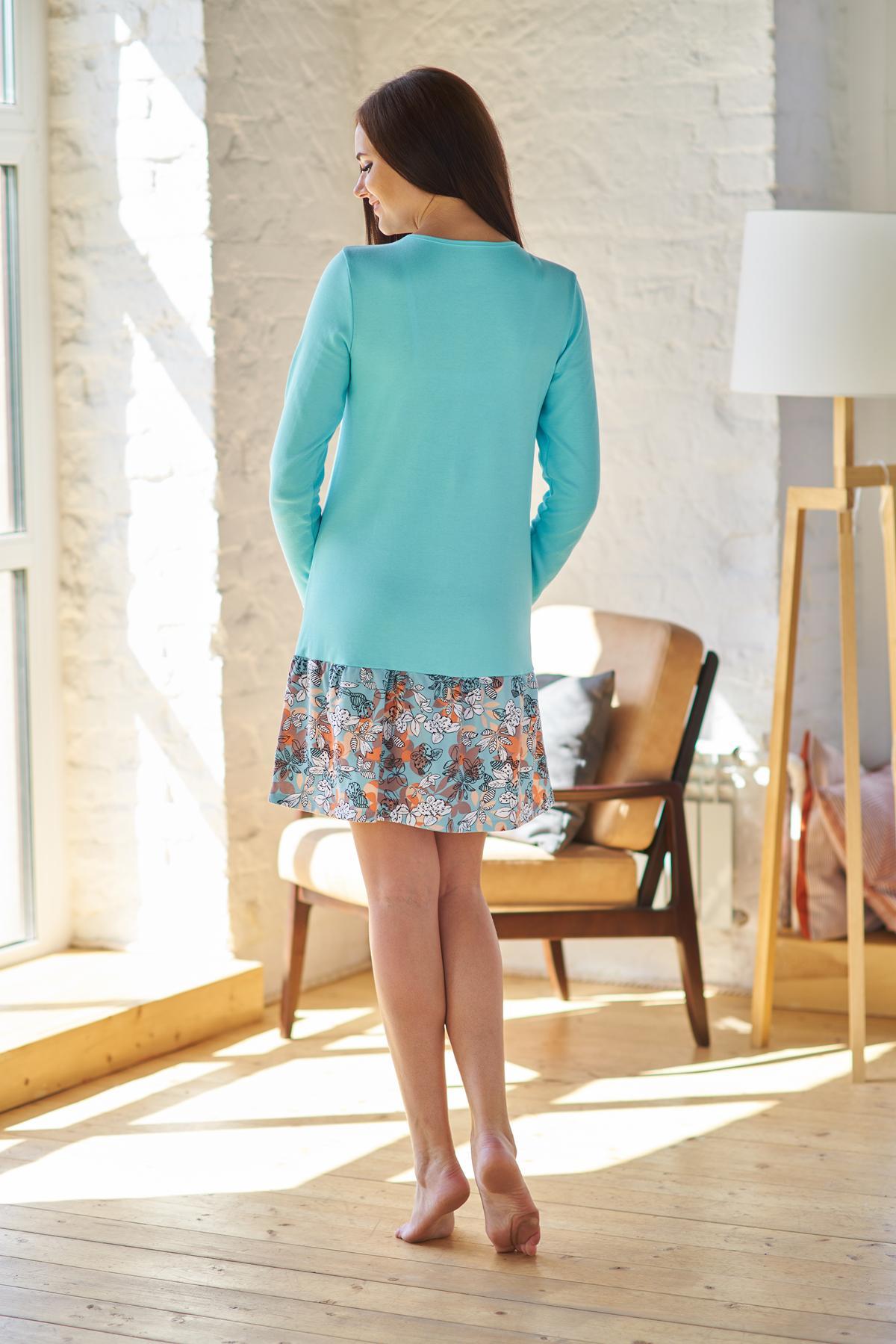 Жен. платье арт. 19-0202 бирюза р. 48