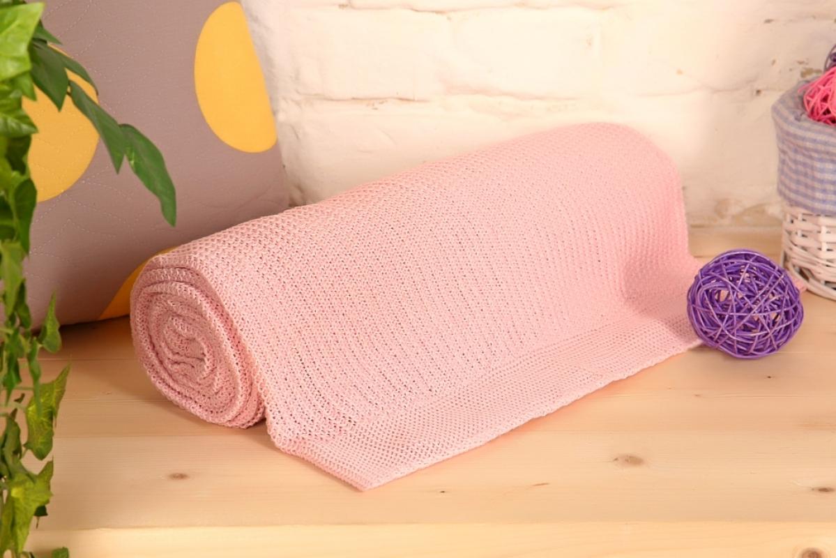 "Плед ""Петелька"" Розовый р. 200х220 — Петелька Розовый"