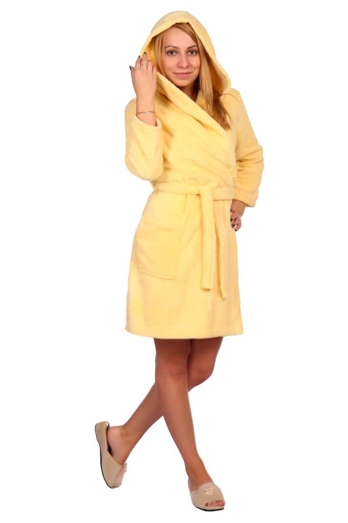 Жен. халат арт. 16-0443 желтый р. 48
