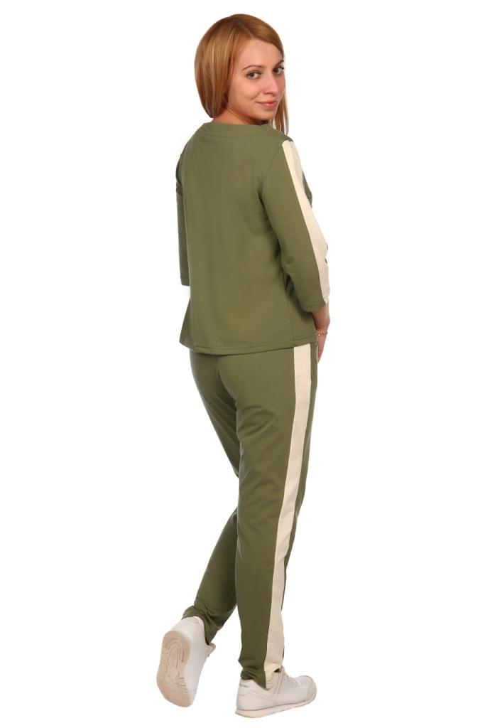 Жен. костюм арт. 16-0447 хаки р. 56