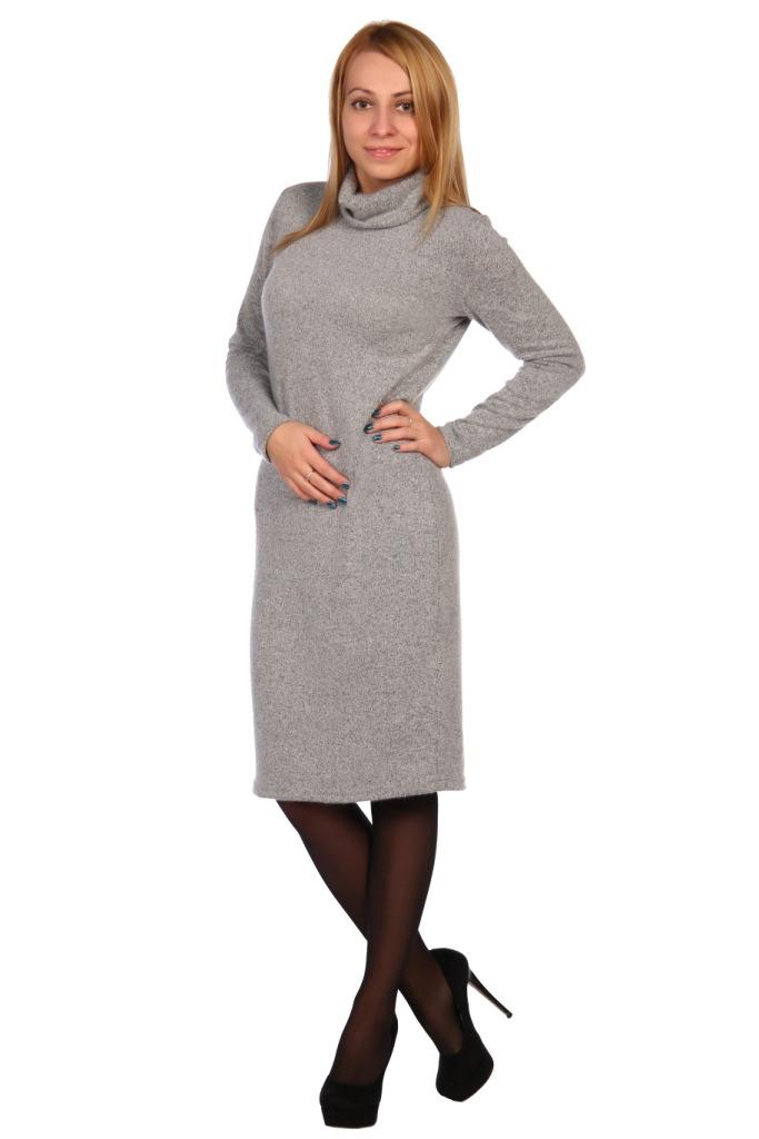 Жен. платье арт. 16-0448 Серый р. 56 фото