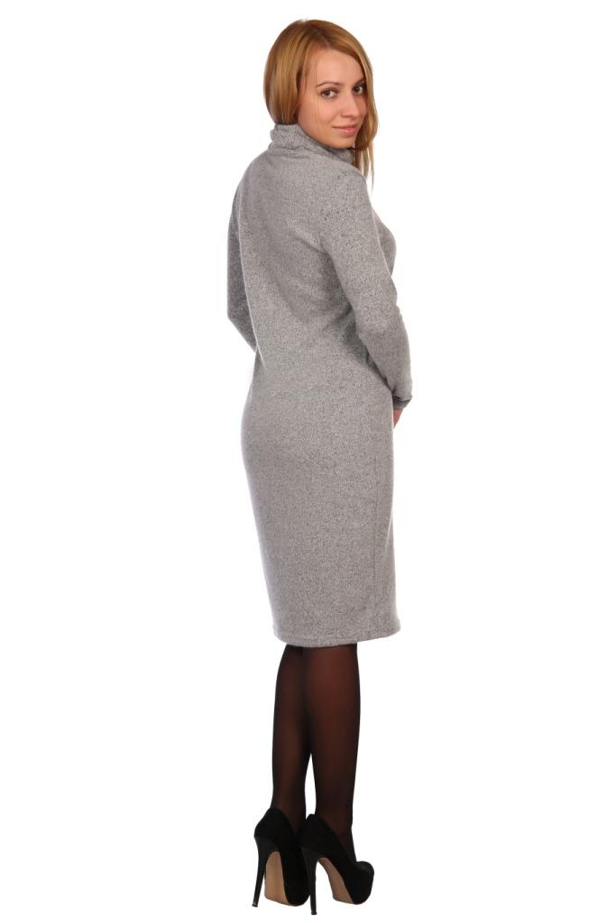Жен. платье арт. 16-0448 серый р. 52