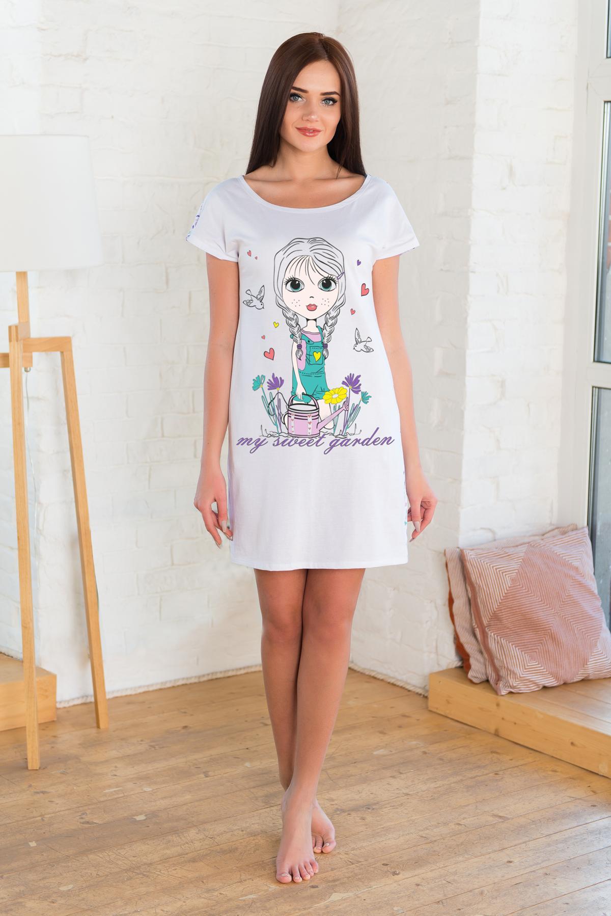 Жен. туника арт. 19-0226 Белый р. 42 Шарлиз