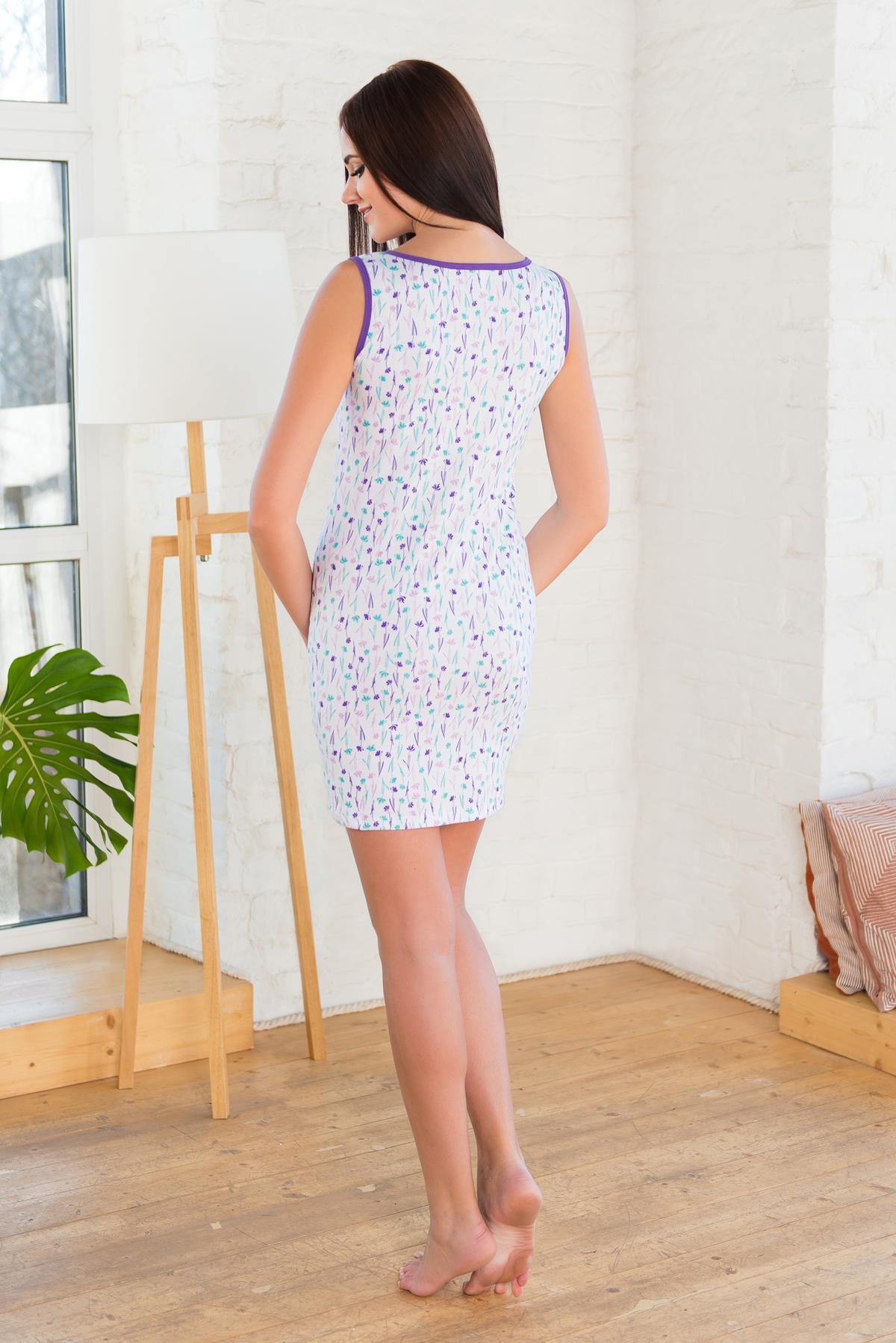 Жен. сорочка арт. 19-0220 фиолетовый р. 46