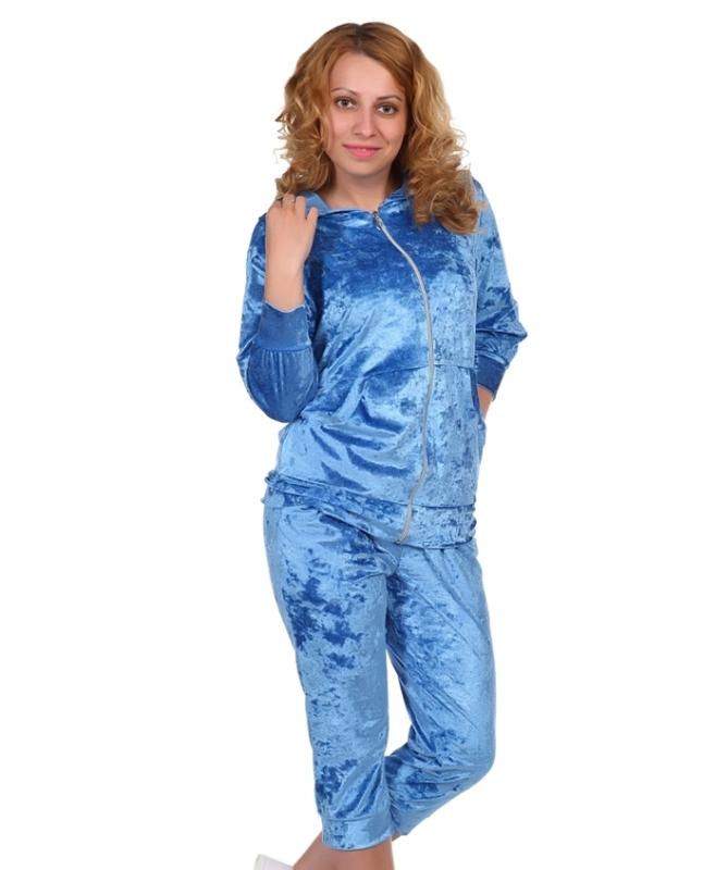 Жен. костюм арт. 16-0220 Голубой р. 48 ЕленаТекс