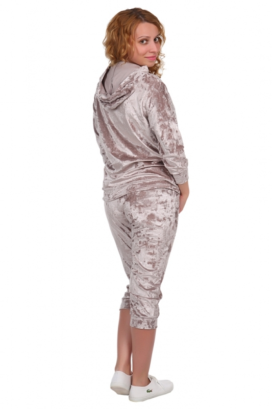 Жен. костюм арт. 16-0220 темно-бежевый р. 46