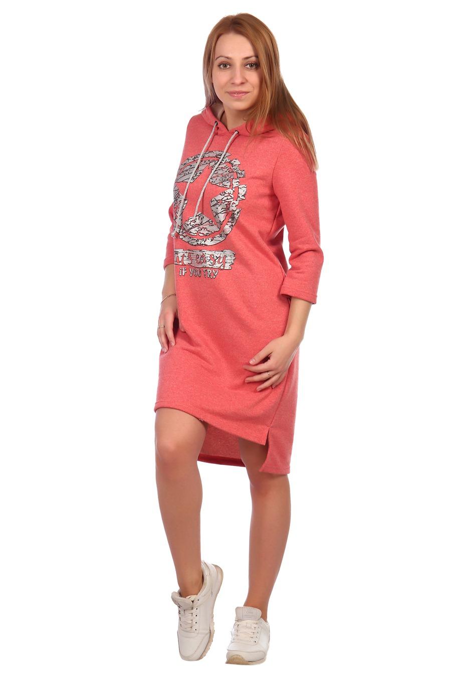 Жен. платье арт. 16-0395 Коралл р. 48 фото