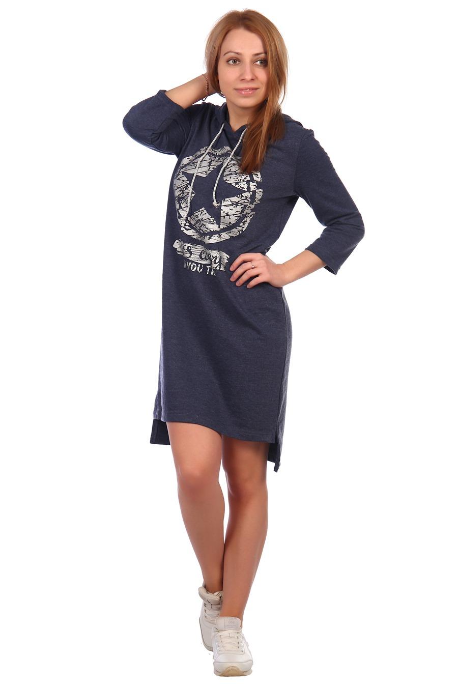 Жен. платье арт. 16-0395 темно-синий р.
