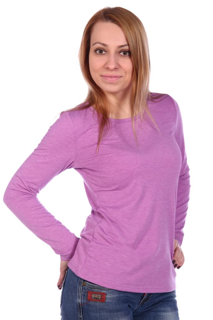 Жен. блуза арт. 16-0499 Лиловый р. 54 фото