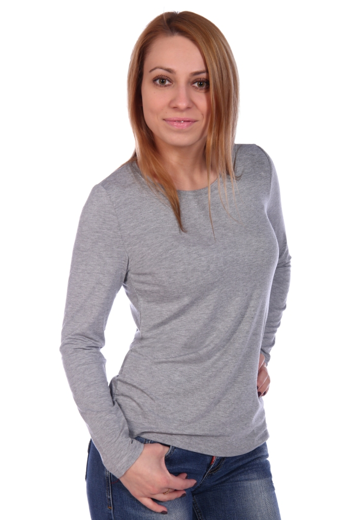 Жен. блуза арт. 16-0499 серый р.