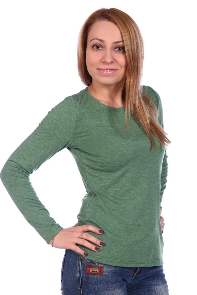 Жен. блуза арт. 16-0499 Зеленый р. 54