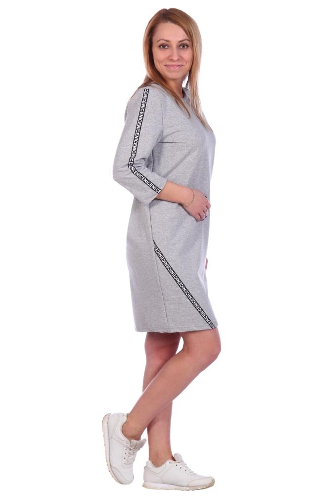 Жен. платье арт. 16-0493 серый р. 50