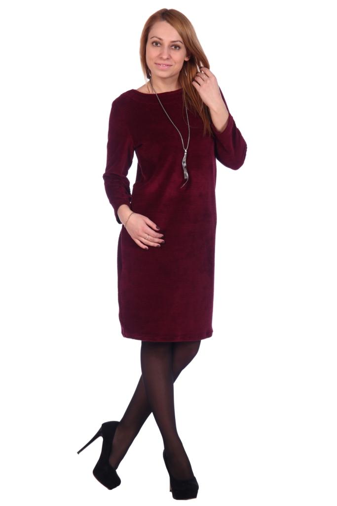 Жен. платье арт. 16-0503 бордовый р. 56