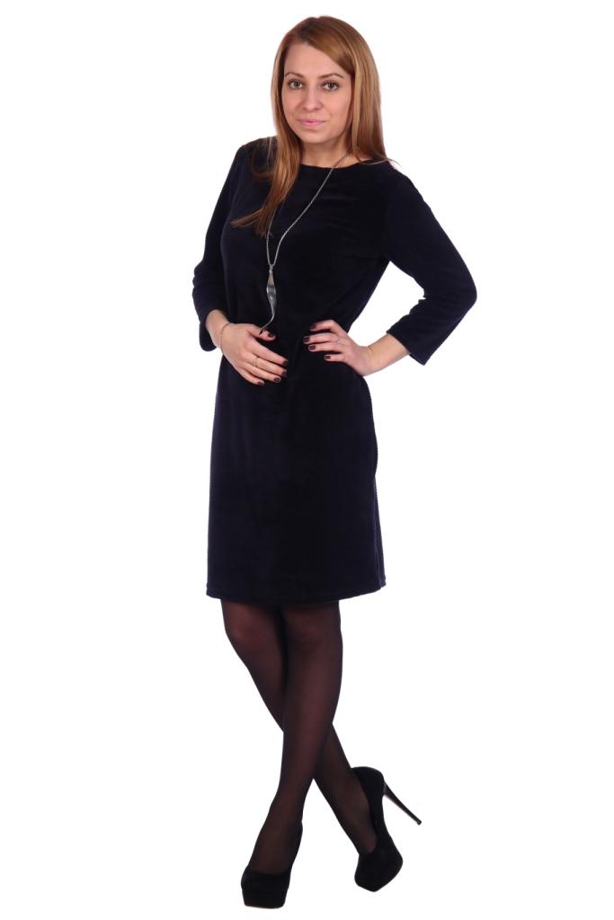 Жен. платье арт. 16-0503 Темно-синий р. 50 фото