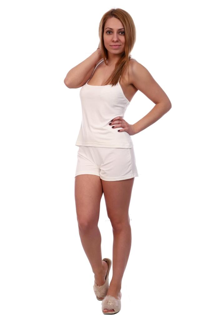 Жен. пижама арт. 16-0497 Молочный р. 54 ЕленаТекс