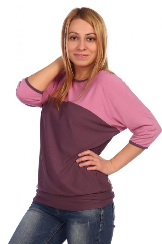Жен. блуза арт. 16-0453 лиловый р.