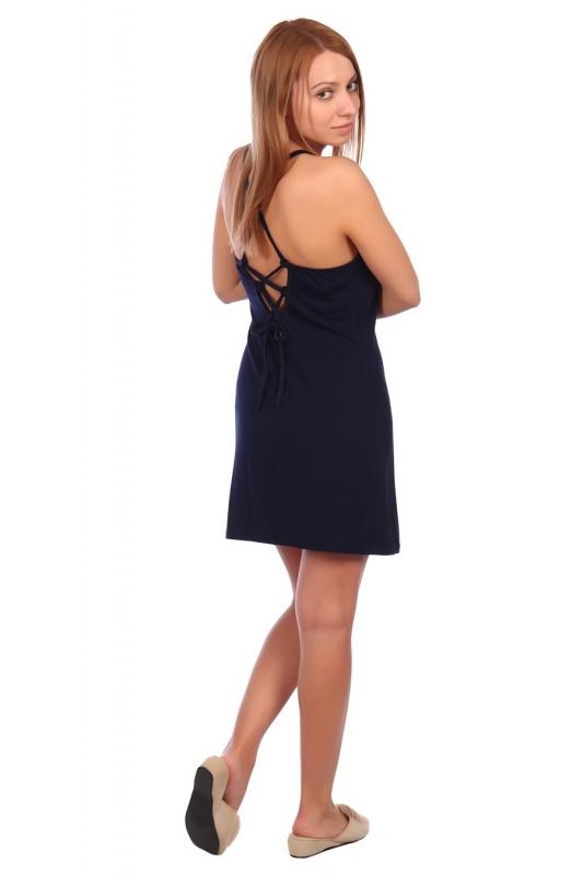 Жен. сорочка арт. 16-0455 темно-синий р.