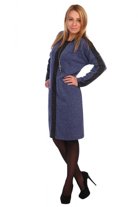 Жен. платье арт. 16-0461 синий р.