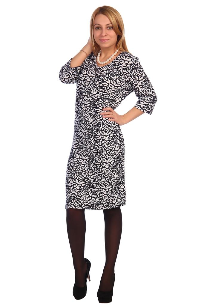 Жен. платье арт. 16-0462 Белый р. 50 фото