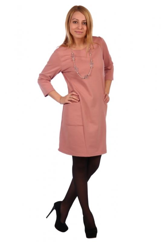 Жен. платье арт. 16-0459 розовый р. 48
