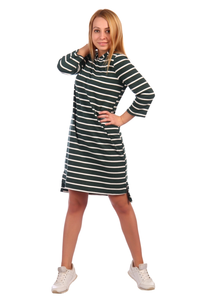 Жен. платье арт. 16-0460 Зеленый р. 50 фото