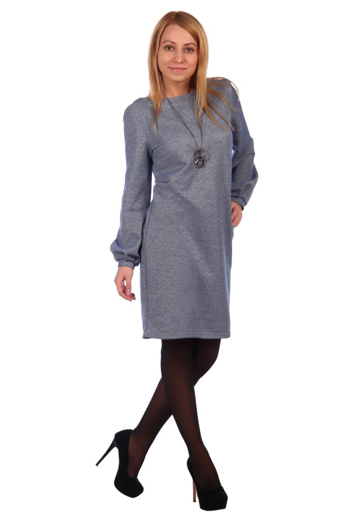 Жен. платье арт. 16-0464 Голубой р. 56 фото