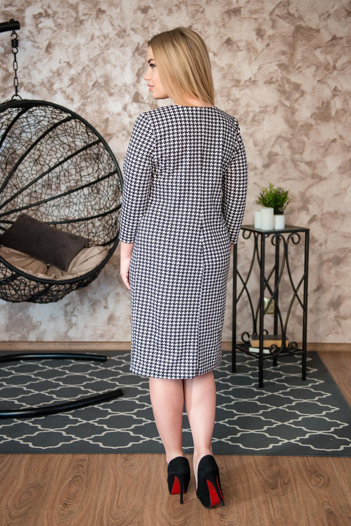 Жен. платье арт. 19-0243 серый р. 48