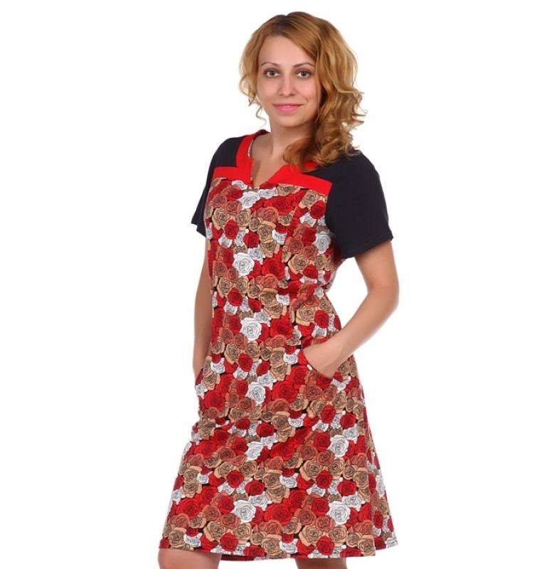 Жен. платье арт. 16-0511 Красный р. 50 фото