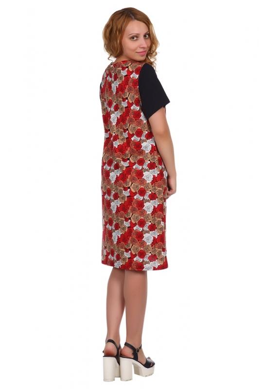 Жен. платье арт. 16-0511 красный р. 50